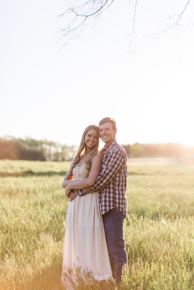 Jayna Watkins Photography / Panther Creek State Park / Tennessee Bride / Tennessee Engagement Session / Tennessee Wedding Photographer / Tennessee Wedding / Sunset field engagement session / Morristown, Tennessee / TN Bride / TN Wedding / TN Engagement Session